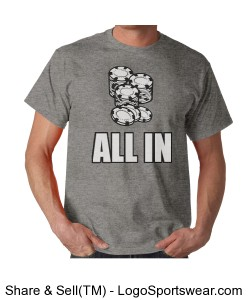 Limited Edition All In Poker T-Shirt Design Zoom